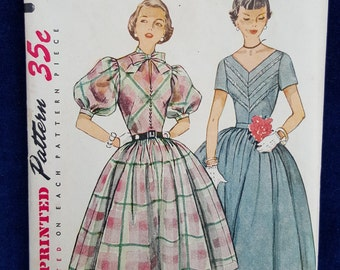 Vintage junior miss dress Simplicity 3859 Size 14