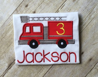 Fire Truck Appliqué Shirt