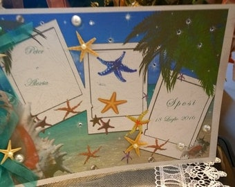 Personalized Wedding Guest Book Sea Theme