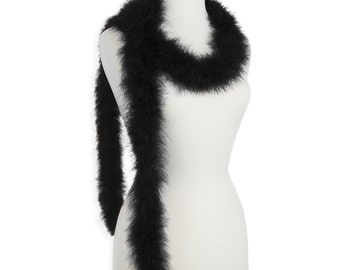 Black 25 Gram Marabou Feather Boas - Use as Trim or Wear as a Scarf