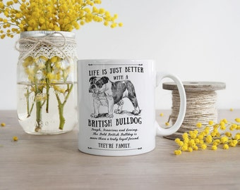 British Bulldog Mug ~ Perfect Gift can be personalised
