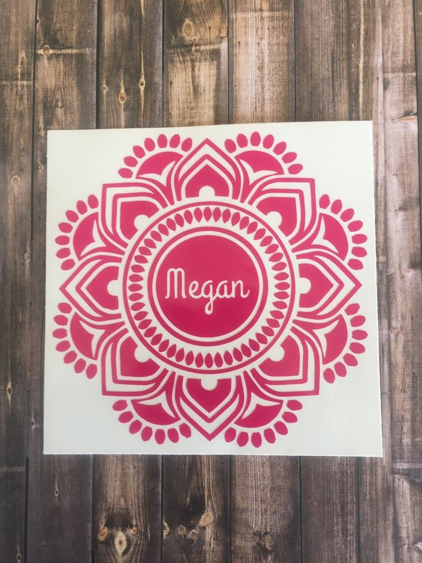 mandala decal mandala monogram mandala sticker yeti
