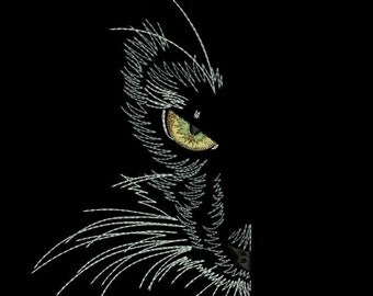 MACHINE EMBROIDERY DESIGN - Black cat