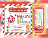 PRINTABLE Circus Birthday Invitations, Carnival Birthday invitations, Circus themed birthday | Circus Carnival birthday, Circus Birthday