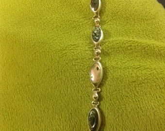 Sterling Silver Bracelet with Stones