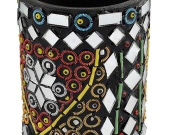 Jewellery Box - Mirror work Jar - Handmade - Ornament - Handicraft - Pen Jar