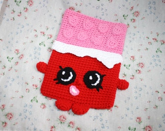 Cheeky Chocolate Tablet cover - Shopkins Crochet Pattern, tablet cover pattern,