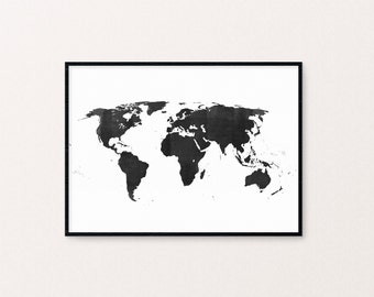 Map of the world - hand drawn illustration
