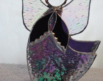Stained Glass Angel in purple