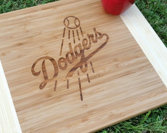 Los Angeles Dodgers Cutting Board, Engraved Cutting Board, Housewarming Gift, Father's Day Gift, Sports Cutting Board