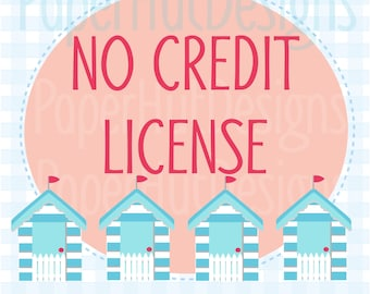 No Credit Required Commercial License for Single Graphic Use