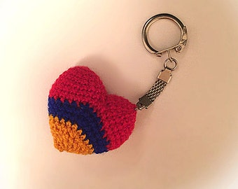 Handmade knitted key chain