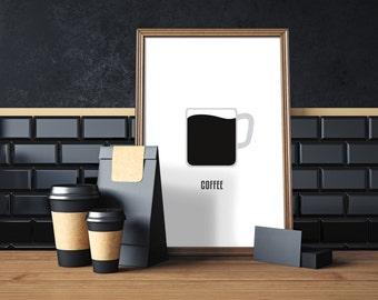 Coffee, digital print, coffee art, coffee print, coffee wall art, coffee prints, coffee poster, coffee decor,coffee design, compassionprints