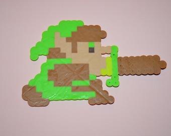 Legend of Zelda - Link Attacking (Perler Beads)