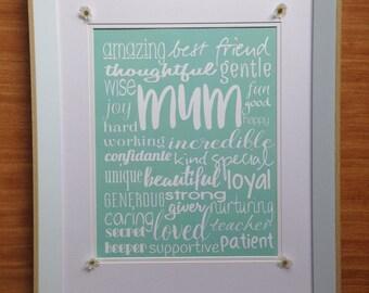 Mum Description Words