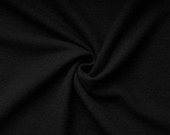 Gaby wool - color: black - Cashmere - Wool - Mittelalter - 0.5 m