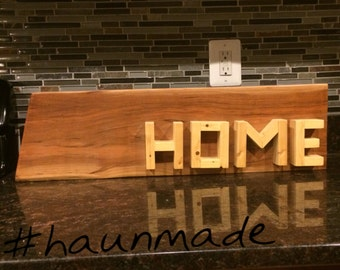 Reclaimed HOME sign