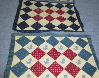 Doll Quilts Made from 1920s Shirting Prints