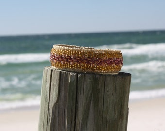 Hand Embroidered Cuff Bracelet