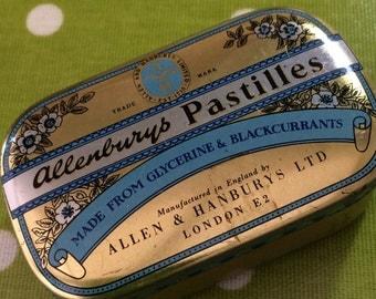 Vintage Allenburys Pastilles Tin