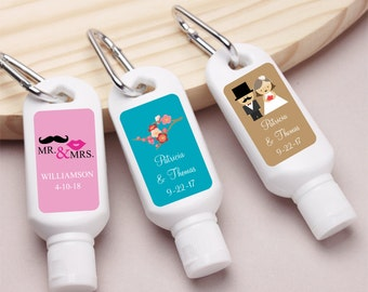 12 pcs Personalized Wedding Themed Mini Sunscreen with Carabiner (MIC-JM7904218)
