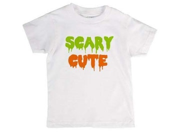 Baby/toddler halloween shirt - scary cute