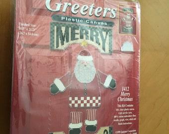 Christmas Plastic Canvas Needlepoint Kit by Janlynn