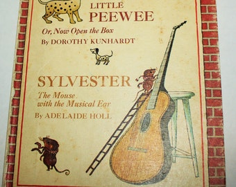 Little Peewee and Sylvester the Mouse - Two Books in One 1967 - Cute children's book illustrations