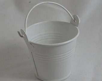 DIY White Bucket Favour - 10 packet - Weddings, Engagments, Party, Events
