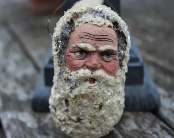 Antique Vintage Dresden Father Christmas Decoration, German circa 1910/20's