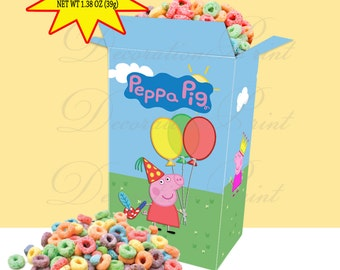 "Printable Cereal Box ""Peppa Pig"" (Instant download)"