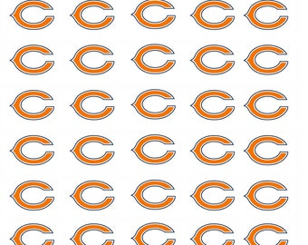 30 Chicago Bears Football Stickers