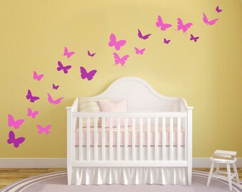 Set of Butterfly Wall Decals - Butterfly Decor - Butterfly Wall Stickers - Butterfly Wall Art - Butterfly Art