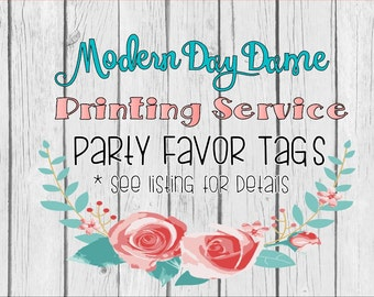 Printing Service - Party Favor Tags