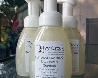 Natural Foaming Face Wash Grapefruit, Natural, Holistic, Natural Beauty