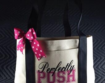 Perfectly Posh canvas tote bag