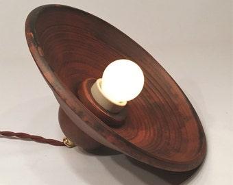 Ceramic pendant light, Rustic light fixture, Retro lighting (diameter 23 cm)