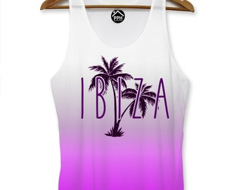 Ibiza Pink Vest Summer Mens Party Lads Holiday Space Singlet Sleeveless Tank PP101