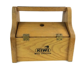 Shoe Shine Box, Rustic Storage Box, Vintage Shoe Shine Box, Kiwi Shoe Groomer, Home And Storage,Vintage Shoes, Shoe Shine Holder