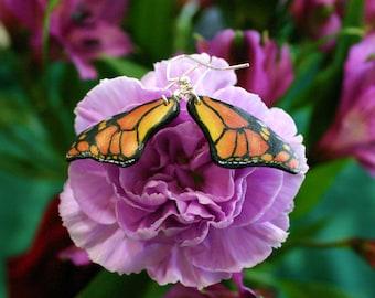 Butterfly Wing Earrings (Monarch Style)