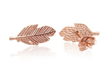 Earrings spring rosegold-free shipping