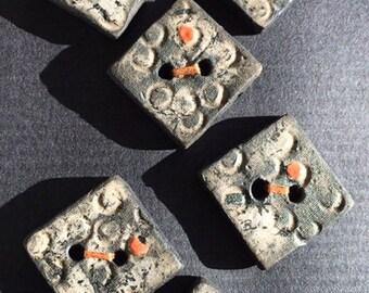 Raku ceramics buttons
