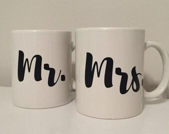 Coffee Mug, Mr. & Mrs. Coffee Mug, Set of 2