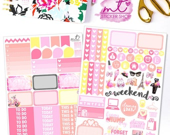 Meet Me In Paris Mini Kit || Vertical || 80+ Planner Stickers || Erin Condren Life Planner