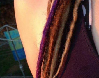 Coloured synthetic dreads!