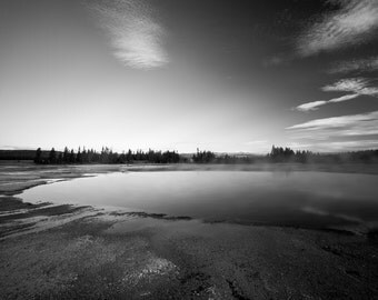 Hot Springs Black and White