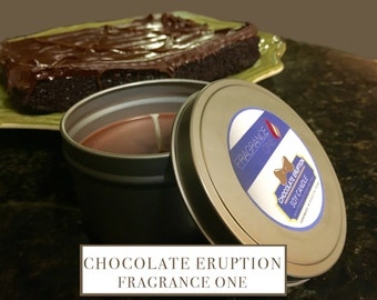 Chocolate Eruption Soy Candle - Tin