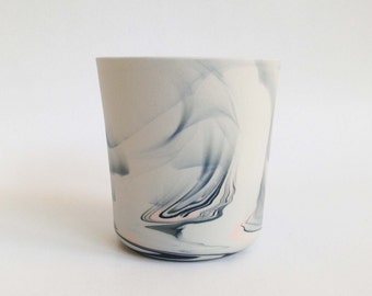 Marble porcelain vessel