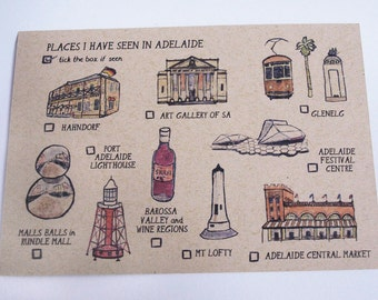 Places I have seen in Adelaide Postcard