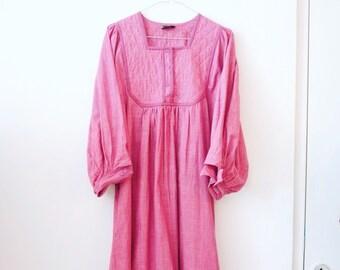 Vintage hippie indian cotton deadstock dress S